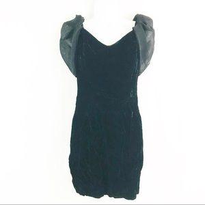 Vintage Jay Jacobs Black Velvet 80's Dress